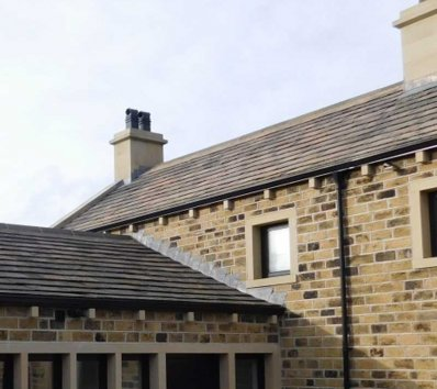 Weathered-roofing